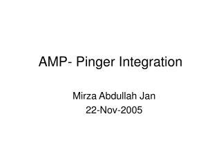 AMP- Pinger Integration