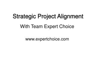 Strategic Project Alignment