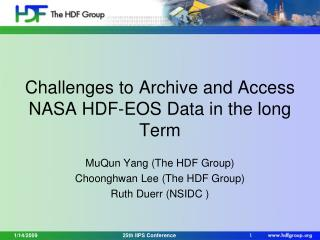 Challenges to Archive and Access NASA HDF-EOS Data in the long Term