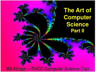 The Art of Computer Science Part II