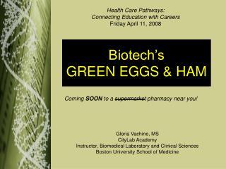 Biotech s GREEN EGGS  HAM