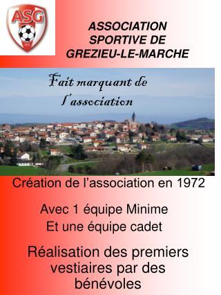 ASSOCIATION  SPORTIVE DE  GREZIEU-LE-MARCHE