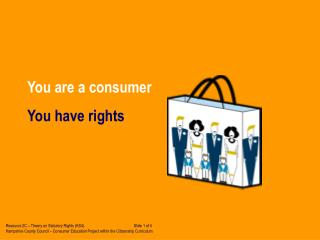 You are a consumer