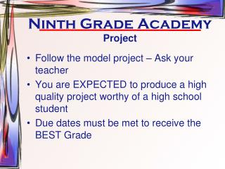 Ninth Grade Academy
