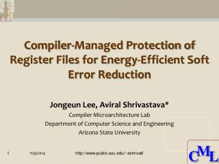 Compiler-Managed Protection of Register Files for Energy-Efficient Soft Error Reduction