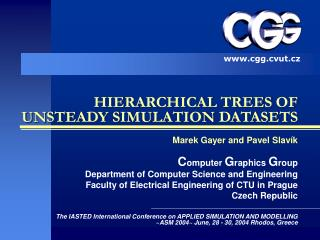 HIERARCHICAL TREES OF UNSTEADY SIMULATION DATASETS