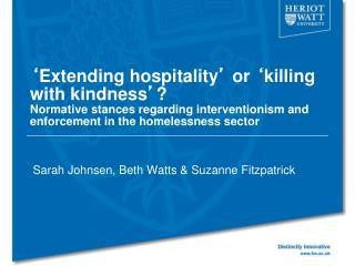 Sarah Johnsen , Beth Watts & Suzanne Fitzpatrick