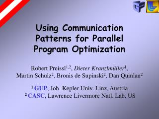 Using Communication Patterns for Parallel Program Optimization