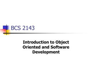 BCS 2143