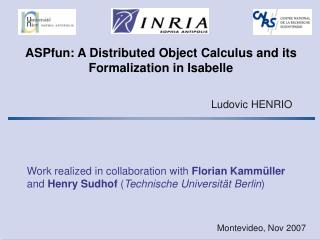 ASPfun: A Distributed Object Calculus and its Formalization in Isabelle