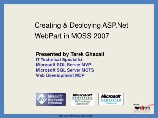 Creating & Deploying ASP.Net WebPart in MOSS 2007