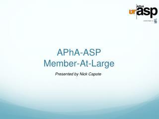 APhA-ASP Member-At-Large