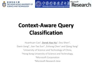 Context-Aware Query Classification