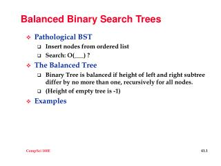 Balanced Binary Search Trees