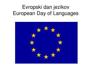 Evropski dan jezikov European Day of Languages