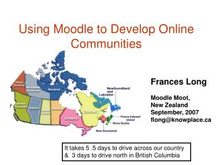 Using Moodle to Develop Online Communities