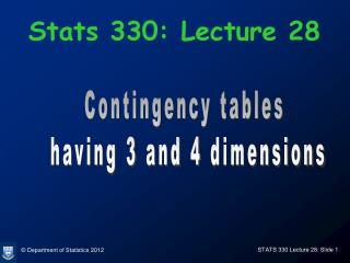 Stats 330: Lecture 28
