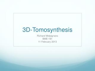 3D-Tomosynthesis