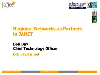 Regional Networks as Partners in JANET