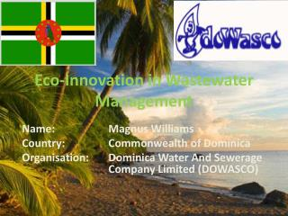 Eco-Innovation in Wastewater Management
