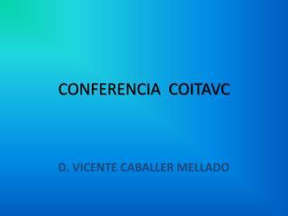 CONFERENCIA  COITAVC