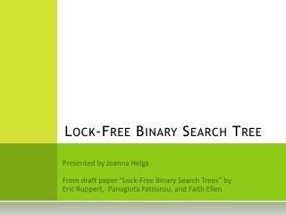 Lock-Free Binary Search Tree