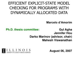 EFFICIENT EXPLICIT-STATE MODEL CHECKING FOR PROGRAMS WITH DYNAMICALLY ALLOCATED DATA