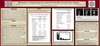 HIV Infection is Independently Associated with Detectable Coronary Artery Calcium