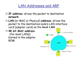 LAN Addresses and ARP