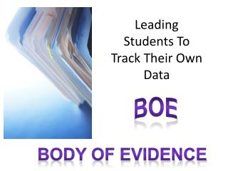 Leading Students To Track Their Own Data