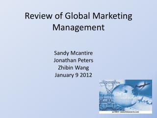 Review of Global Marketing Management