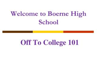 Welcome to Boerne High School