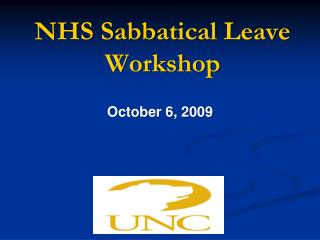 NHS Sabbatical Leave Workshop