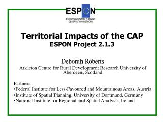 Deborah Roberts Arkleton Centre for Rural Development Research University of  Aberdeen, Scotland
