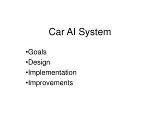Car AI System
