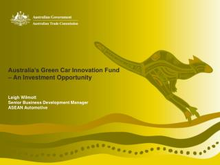 Australia's Green Car Innovation Fund  – An Investment Opportunity
