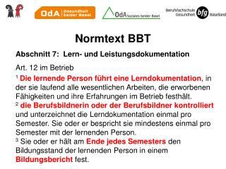 Normtext BBT