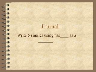 Journal-