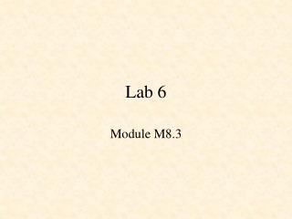 Lab 6