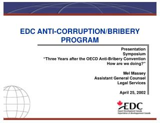 EDC ANTI-CORRUPTION/BRIBERY PROGRAM