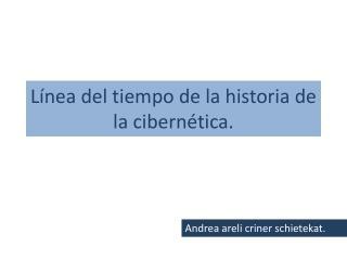 Línea del tiempo de la historia de la cibernética.