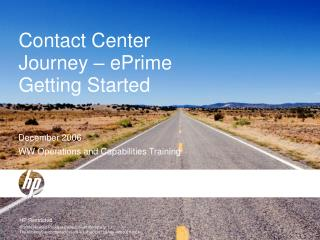 Contact Center Journey – ePrime Getting Started