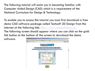 An introduction to CAD using TechSoft 2D Design