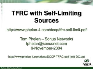TFRC with Self-Limiting Sources