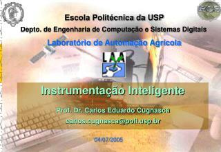 Instrumentação Inteligente Prof. Dr. Carlos Eduardo Cugnasca carlos.cugnasca@polip.br