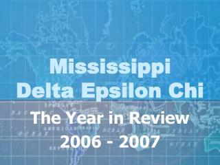 Mississippi  Delta Epsilon Chi