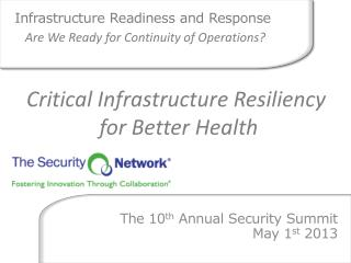 Infrastructure Readiness and Response