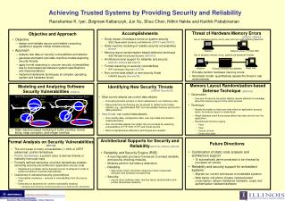 Achieving Trusted Systems by Providing Security and Reliability