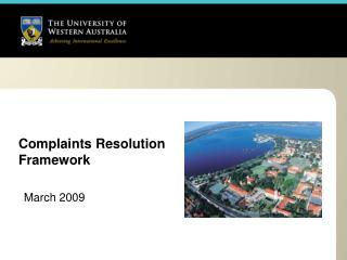 Complaints Resolution Framework