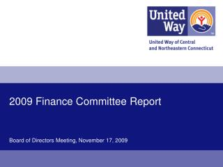 2009 Finance Committee Report